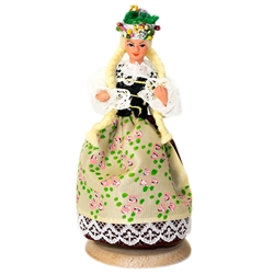 Our maiden is dressed in the traditional costume from Upper Silesia which is a region located is southern Poland.. These dolls are perfect, clothed in authentic regional folk costumes, as certified by the Polish Ministry of Culture. These traditional Poli