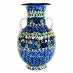 Polish Art Center Unikat Polish Pottery Stoneware Quot Grecian Style Urn Quot U4572