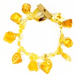 Bozena Przytocka is a designer of artistic amber jewelry based in Gdansk, Poland. Here is a beautiful example of her ability to blend a variety of amber shapes to create a stunning bracelet.