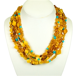 Bozena Przytocka is a designer of artistic amber jewelry based in Gdansk, Poland. Here is a beautiful example of her ability to blend amber and turquoise to create a stunning necklace.