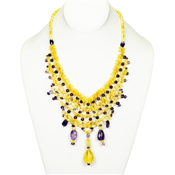 Bozena Przytocka is a designer of artistic amber jewelry based in Gdansk, Poland. Here is a beautiful example of her ability to blend amber and amethyst to create a stunning necklace.