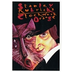 "Post Card: Clockwork Orange, Kubrick, Polish Poster designed by Leszek Zebrowski  in 2007. It has now been turned into a post card size 4.75"" x 6.75"" - 12cm x 17cm."