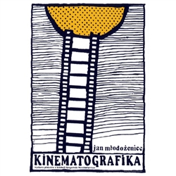 "Post Card: Kinematografika - Polish Exhibition poster designed by Ryszard Kaja  in 2011. It has now been turned into a post card size 4.75"" x 6.75"" - 12cm x 17cm."