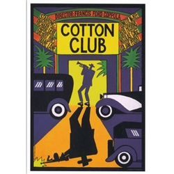 "Post Card: The Cotton Club, Polish Poster designed by Andrzej Krajewski in 2010. It has now been turned into a post card size 4.75"" x 6.75"" - 12cm x 17cm."