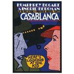 "Post Card: Casablanca, Polish Poster designed by Andrzej Krajewski in 2009. It has now been turned into a post card size 4.75"" x 6.75"" - 12cm x 17cm."