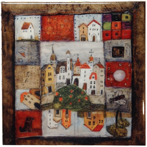 Polish Art Center - Artistic Ceramic Tile - Old Town Mosaic
