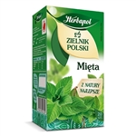 Herbapol mint herbal tea is a favorite of Poles. Green mint leaves a positive impact on your body. They support the digestive processes contributing to the proper functioning of the digestive system and helps in relaxation of the body.