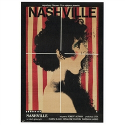 "Post Card: Nashville, Polish Movie Poster designed by artist Andrzej Klimowski . It has now been turned into a post card size 4.75"" x 6.75"" - 12cm x 17cm."