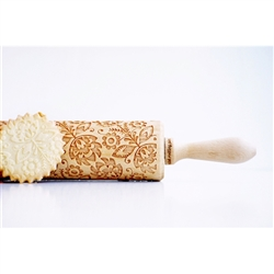 This wooden rolling pin is engraved with a beautiful polish folk pattern. It embosses perfectly your cookies, pies, fondant with folky flowers. What an original way to decorate your pastries. The roller is perfect to use with clay, you can use it to give