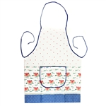 "Attractive Polish Stoneware Apron. . This is a traditional Boleslawiec pattern.  Front panel has a 9.5"" x 5.5"" (24cm x 14cm) pocket. 100% polyester."