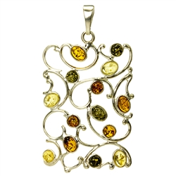 Multi Color Amber Pendant