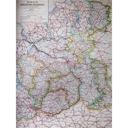 Reprint of a 1914 map of the area known as the Kingdom Of Poland.