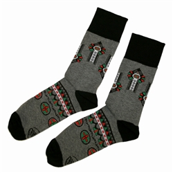 "Folk is in fashion and these beautiful Polish hosiery featuring a Polish Highlander folk design ""Parzenica"" look really sharp. Made in Poland."