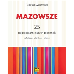 This songbook contains 25 songs from the repertoire of the folk group Mazowsze, adapted and arranged for piano by Tadeusz Sygietyński and Mira Zimińską- Sygietyńska.