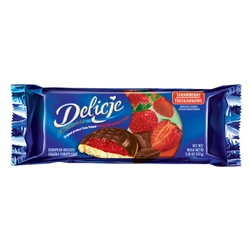 These are light cookies with a jelly topping that are totally dipped into dark chocolate.  Delicje is the Polish word for delicious and they are certainly that!