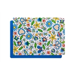 Decorative plastic pad for folk with a pattern of Kashubian flowers. The colored underside is made of non-slip foam. Rounded cornersand easy to clean - just wipe with a wet cloth.