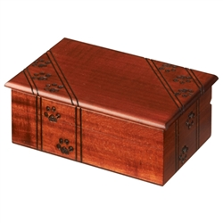 This medium sized simple box is decorated with a paw print design running across the sides and top of the box. It's perfect for the animal lover!