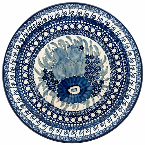 This beautiful 10.5  dinner plate can also be hung using special holes in the back  sc 1 st  Polish Art Center & Polish Art Center - Unikat Polish Pottery Stoneware Dinner Plate U61A