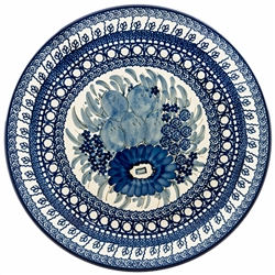 "This beautiful 10.5"" dinner plate can also be hung using special holes in the back. Pattern Designed By Teresa Liana.