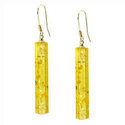 Very elegant pilaster shaped columns of citrine amber.