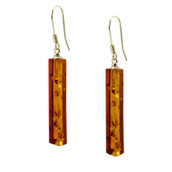 Very elegant pilaster shaped columns of cherry amber.