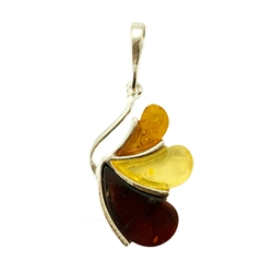 "Multi Color Amber Pendant ""Angel"""