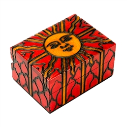 Miniature Floral Wooden Box, This beautiful miniature floral box is made of seasoned Linden wood, from the Tatra Mountain region of Poland.