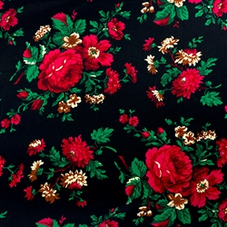 Traditional fabric for Polish costumes. To make a typical skirt will require approximately 3 yards of material. Price is per yard. Fabric sales are final and non-returnable. 20% discount for a whole bolt (approx 50yards).