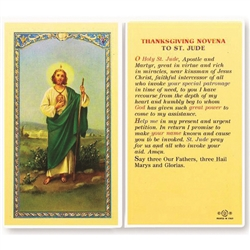Polish Art Center - St. Jude - Holy Card.  Plastic Coated. Picture is on the front, text is on the back of the card.