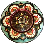 Hand Made in Southern Poland Polish wooden plates are made from Linden wood in the mountain region of southern Poland called Podhale. The plates are cut and shaped on a lathe by hand. The floral designs are burned into the wood then painted after staining
