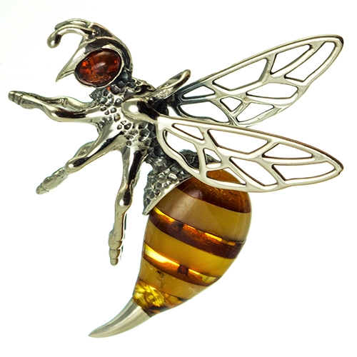 Bee Jewelry Natural Jewelry Insect Jewelry amber bee Healing Amber Hornet Pendant Baltic Amber Hornet  Bee Necklace Bee pendant