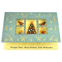 A beautiful Christmas cut-out card featuring a Sprit of Christmas Window design.