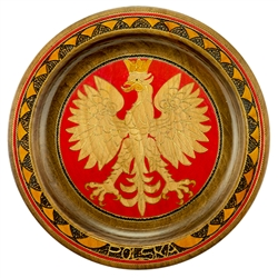 Hand Made in Southern Poland This beautiful plate is made of seasoned Linden wood, from the Tatra Mountain region of Poland.
