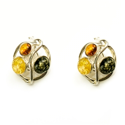 These Sterling Silver and Baltic Amber clip on earrings are truly elegant.