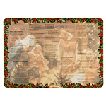 "Large and colorful two sided plasticized placemat with the words to 15 of the best Polish Christmas carols (in Polish). Perfect for the Christmas season and especially for your Christmas Eve Wigilia Dinner. Size 16"" x 11.5"" - 41cm x 29cm"