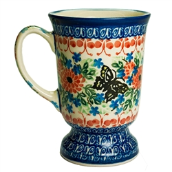 "Designed And Signed By Maria Starzyk The artist has been connected with the Artistic Handicraft Cooperative ""Artistic Ceramics and Pottery"" since 1995. Since 1997 she has been a pattern designer. Unikat pattern number U1498."