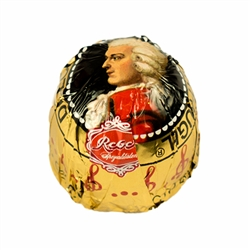 Enjoy the world's unique Genuine Reber Mozartkugeln®. With fine marzipan from fresh pistachios, almonds and the finest nougat. Double wrapped with Alpine milk chocolate and dark chocolate.