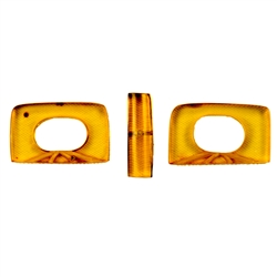 Jewelry makers will enjoy these 3 parts to finish your own bracelet. Genuine Baltic Amber.