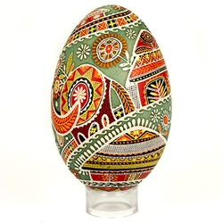 Beautifully designed Ukrainian art egg.  Imported from Ukraine.