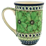 "A beautiful design by master artist Jacek Chyla! Hand made in Poland. SIgned by the artist. The artist has been connected with the Artistic Handicraft Cooperative ""Artistic Ceramics and Pottery"" since 1986. Since 1994 he has been a pattern designer. U408"