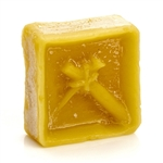 Pure refined beeswax is used because it adheres to the shell the best, it has the necessary low melting temperature, and it's sweet smell brings great memories of Easter!!!  Joan recommends that each person has a cake of wax to use to reduce the chance of