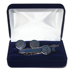 Beautiful Polish Army Air Force Eagle cuff links and tie bar set.