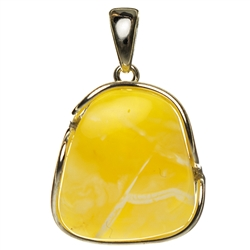 Baltic amber with Sterling Silver detail.