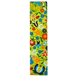 This is a beautiful Kashub floral pattern printed on a bookmark with a light green background.