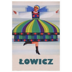 "Very clever Polish poster originally designed in 1973 by artist Wiktor Gorka to promote tourism to Poland.  It has now been turned into a post card size 4.75"" x 6.75"" - 12cm x 17cm."