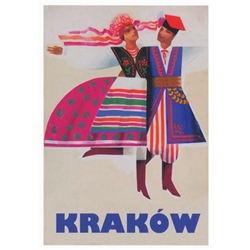 "Very clever Polish poster originally designed in 197o's? by artist Wiktor Gorka to promote tourism to Poland.  It has now been turned into a post card size 4.75"" x 6.75"" - 12cm x 17cm."