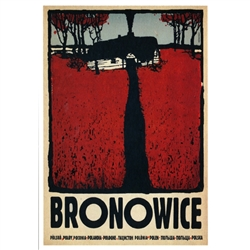 Polish poster designed in 2015 by artist Ryszard Kaja to promote tourism to Poland. Bronowice is a district of Krakow.