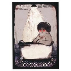 Polish theater poster designed in 2011 by artist Ryszard Kaja.
