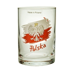"A great shot glass with the perfect Polish toasts. On one side you have the Polish Eagle superimposed on the Polish flag above the word ""Polska"" - Poland and on the other side ""Na Zdrowie"", ""To Your Health"". Set of 6 in a box. Made in Krosno, the center o"