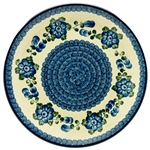 "This beautiful 10.5"" dinner plate can also be hung using special holes in the back.  Artist initialed"